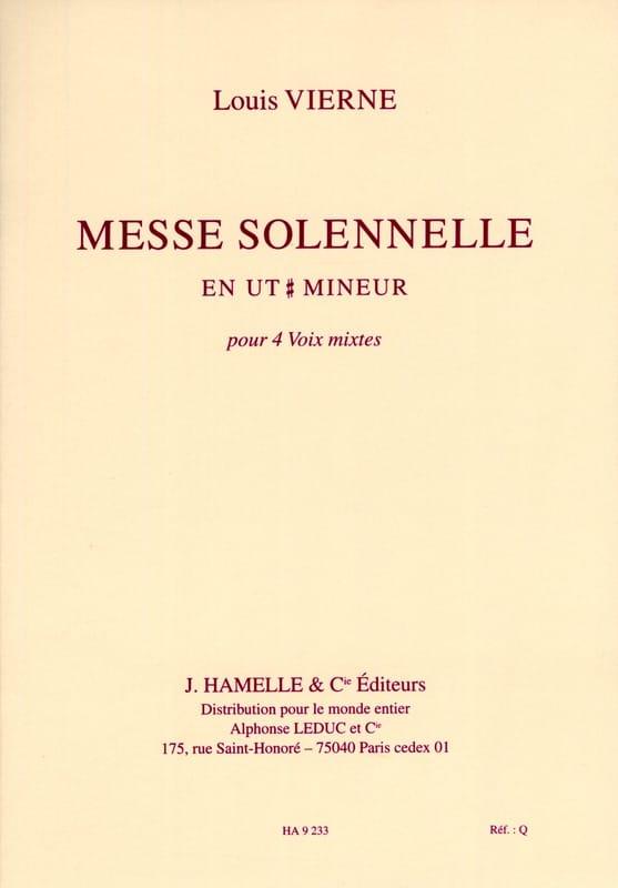 Messe Solennelle en Ut dièse Mineur Op 16. Choeur seul - laflutedepan.com