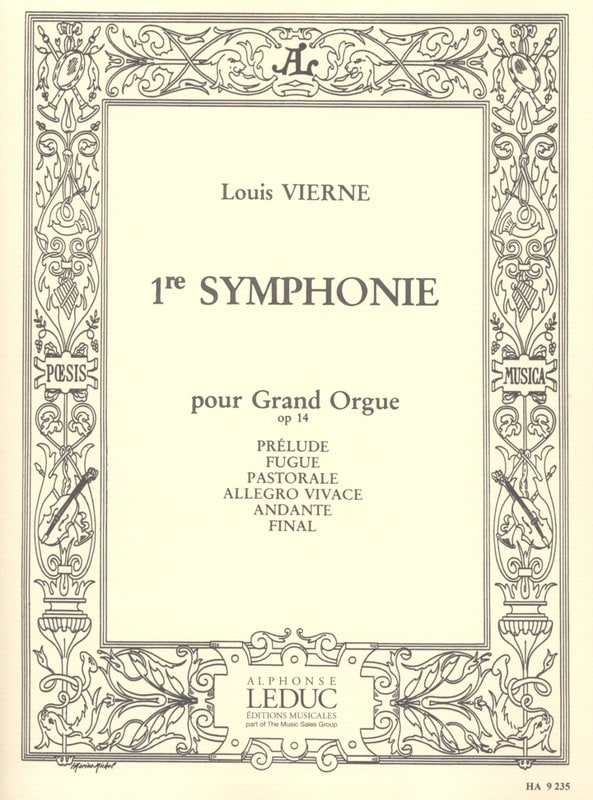 Louis Vierne - Symphony No. 1 Opus 14 - Partition - di-arezzo.co.uk