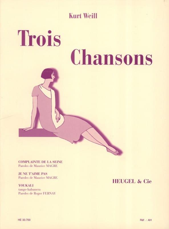 Kurt Weill - 3 canciones - Partition - di-arezzo.es