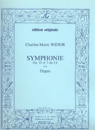 Charles-Marie Widor - Symphony No. 1 Opus 13 - Partition - di-arezzo.co.uk