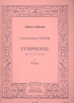 Charles-Marie Widor - Symphony No. 2 Opus 13 - Partition - di-arezzo.co.uk