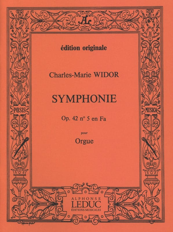 Symphonie n° 5 Opus 42 - WIDOR - Partition - Orgue - laflutedepan.com
