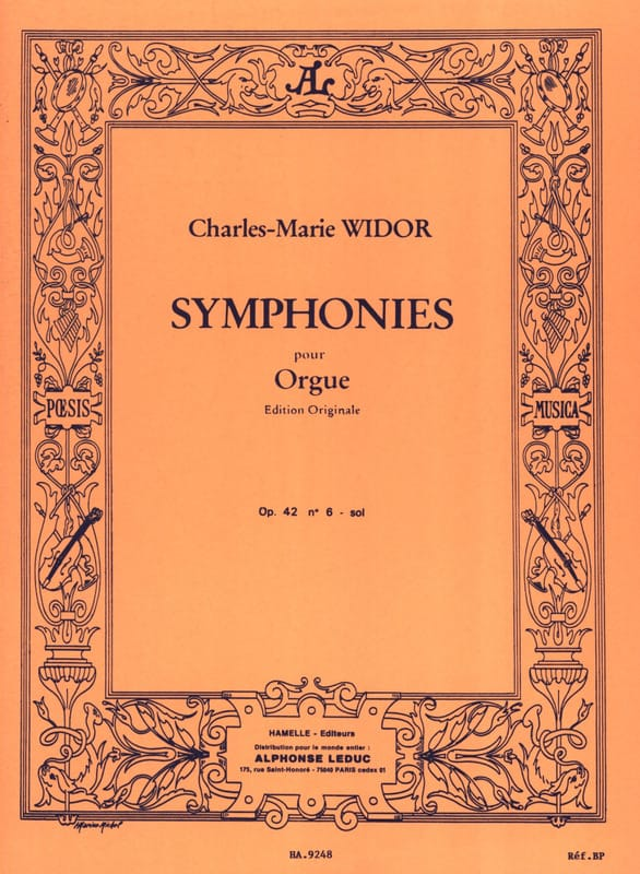 Charles-Marie Widor - Symphony No. 6 Opus 42 In Sol - Partition - di-arezzo.co.uk
