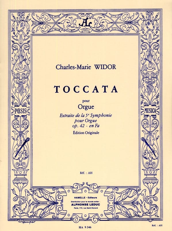 Charles-Marie Widor - Toccata - Partition - di-arezzo.co.uk