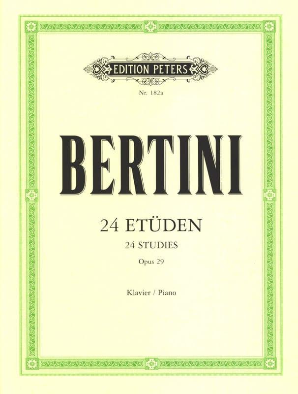 24 Etudes Opus 29 - Henri Bertini - Partition - laflutedepan.com