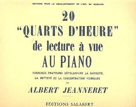 20 Quarts D'heure de Lecture A Vue Au Piano - laflutedepan.com