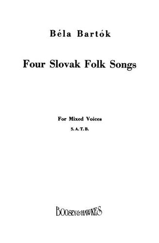 BARTOK - Four Slovak Folksongs - Partition - di-arezzo.co.uk