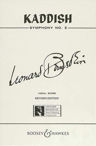Kaddish Symphonie N°3 - BERNSTEIN - Partition - laflutedepan.com