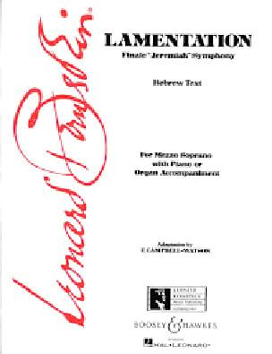 Leonard Bernstein - Lamentation - Partition - di-arezzo.com