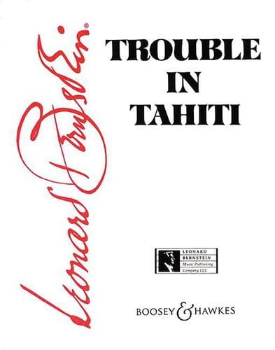 Leonard Bernstein - Problemas en Tahití - Partition - di-arezzo.es