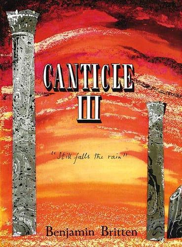 Benjamin Britten - Canticle 3 Opus 55 - Partition - di-arezzo.com