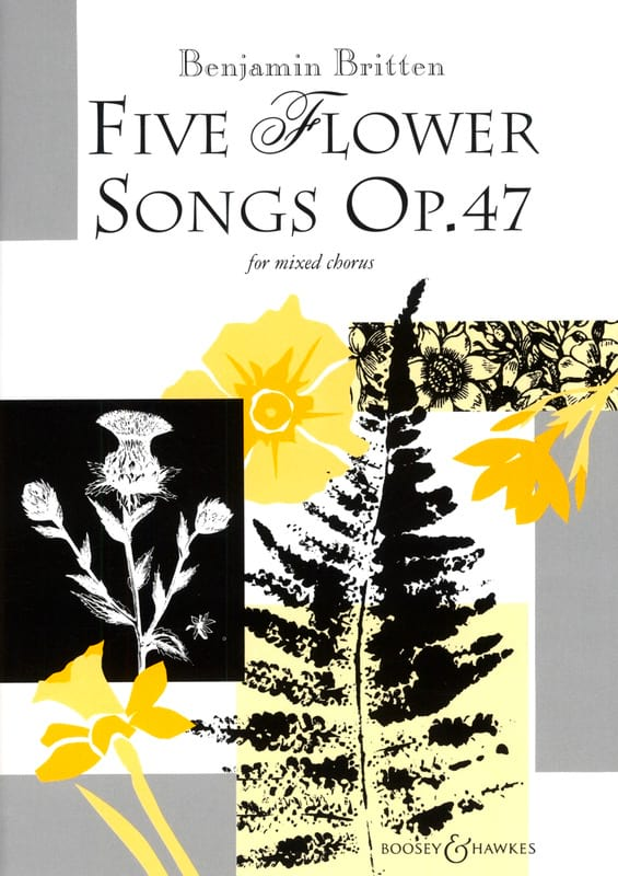 5 Flower Songs Opus 47 - BRITTEN - Partition - laflutedepan.com