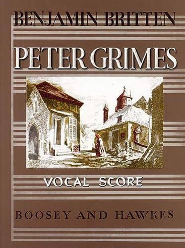 Peter Grimes Opus 33 - BRITTEN - Partition - Opéras - laflutedepan.com