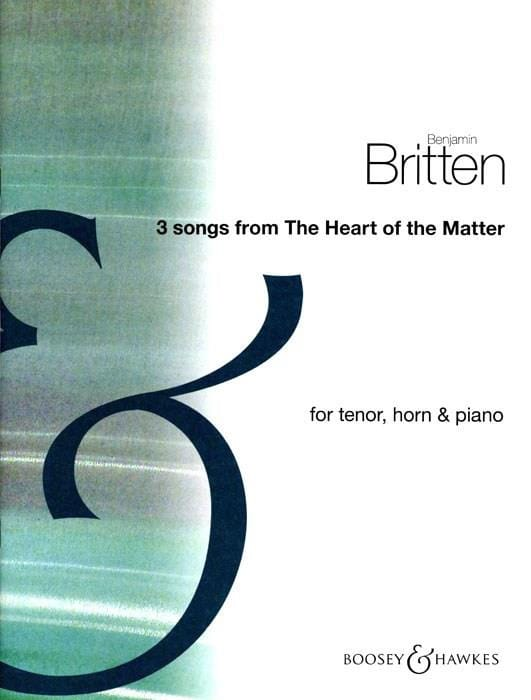 Benjamin Britten - 3 Songs From The Heart Of The Matter - Partition - di-arezzo.com