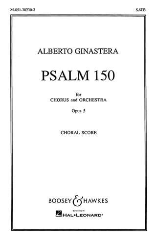 Alberto Ginastera - Psalm 150 Op. 5. Choeur Seul - Partition - di-arezzo.fr