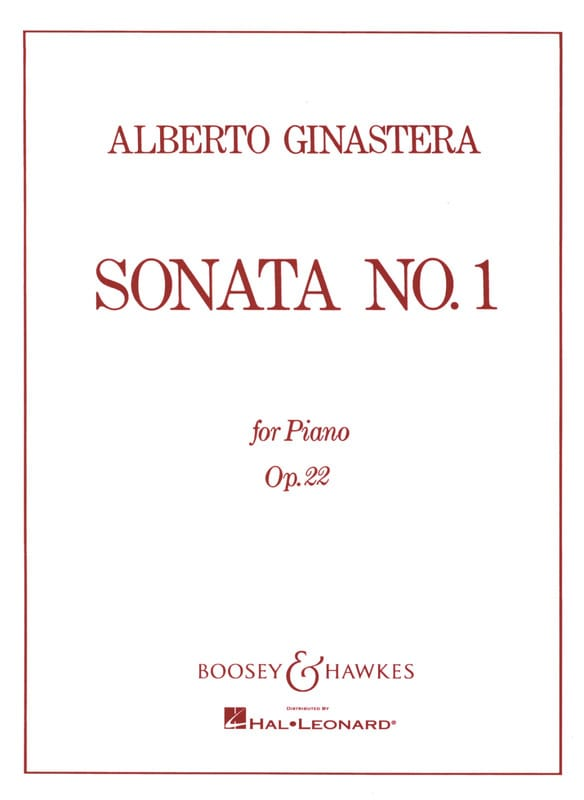 Alberto Ginastera - Sonata For Piano N ° 1 Opus 22 - Partition - di-arezzo.co.uk