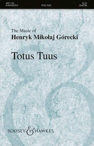 Totus Tuus Opus 60 - GORECKI - Partition - Chœur - laflutedepan.com