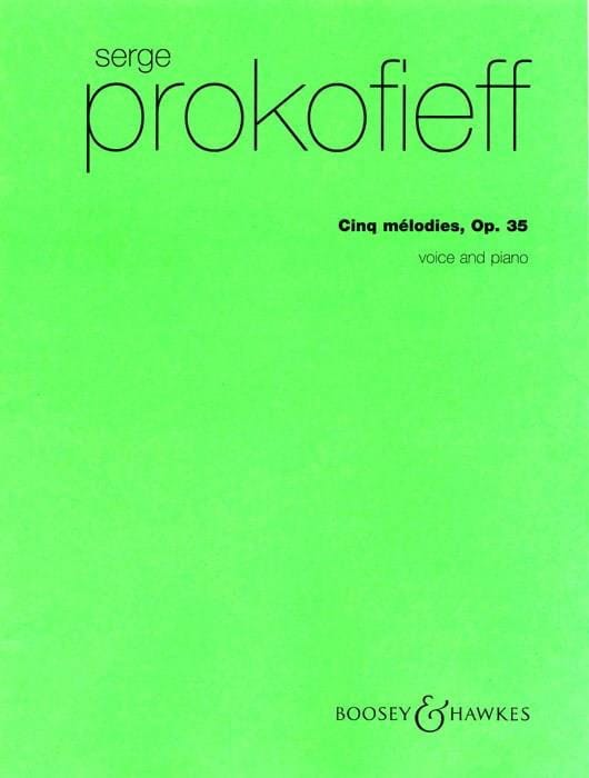 Sergei Prokofiev - 5 Opus 35 Melodies - Partition - di-arezzo.com
