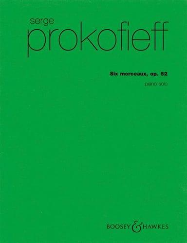 6 Morceaux Opus 52 - PROKOFIEV - Partition - Piano - laflutedepan.com