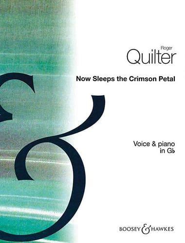 Roger Quilter - Now Sleeps The Crimson Petal Op. 3-2 - Partition - di-arezzo.com
