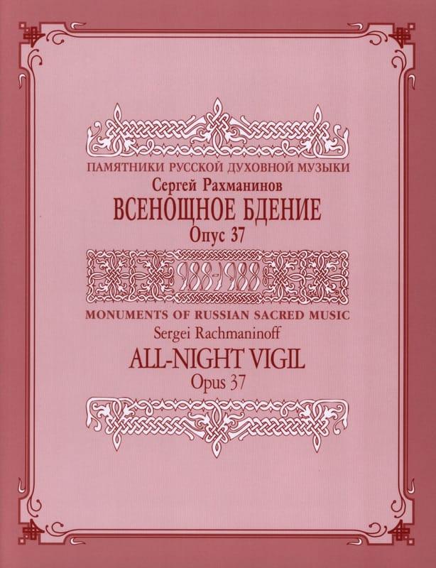 RACHMANINOV - Vespers Opus 37 - Partition - di-arezzo.com