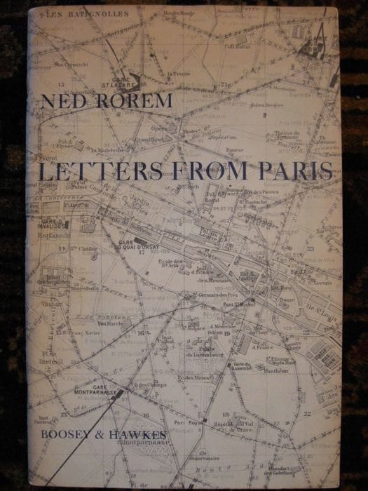 Letters From Paris - Ned Rorem - Partition - Chœur - laflutedepan.com