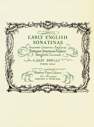 Early English Sonatinas - Partition - Piano - laflutedepan.com