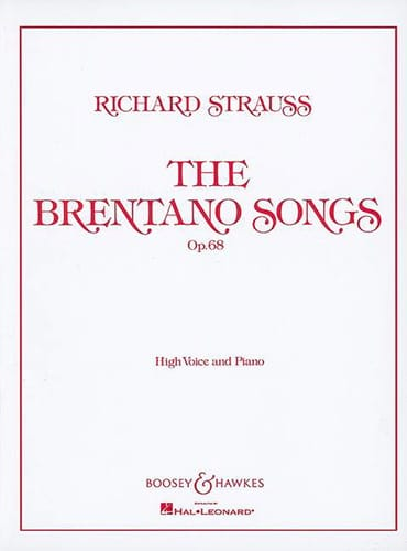 Richard Strauss - Brentano Lieder Opus 68. High Voice - Partition - di-arezzo.com