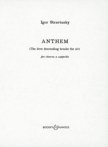 Anthem - STRAVINSKY - Partition - Chœur - laflutedepan.com