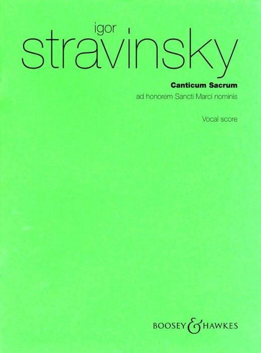 Canticum Sacrum - STRAVINSKY - Partition - Chœur - laflutedepan.com