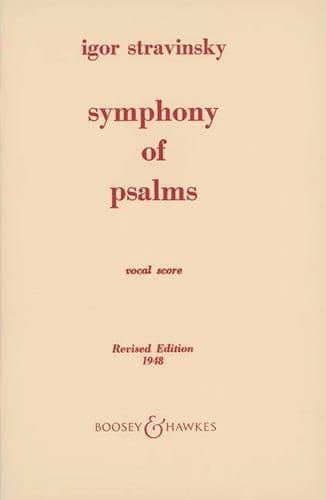 Symphonie des Psaumes - STRAVINSKY - Partition - laflutedepan.com
