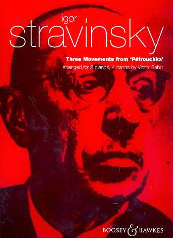 Igor Stravinski - 3 Movements of Petrushka. 2 Pianos - Partition - di-arezzo.com