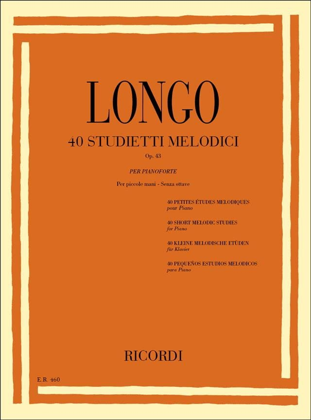 40 Etudes Mélodiques Opus 43 - Longo - Partition - laflutedepan.com