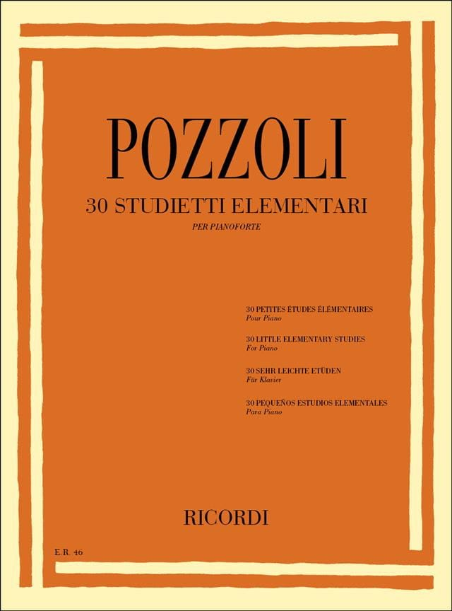 30 Petites Etudes Elémentaires - Ettore Pozzoli - laflutedepan.com