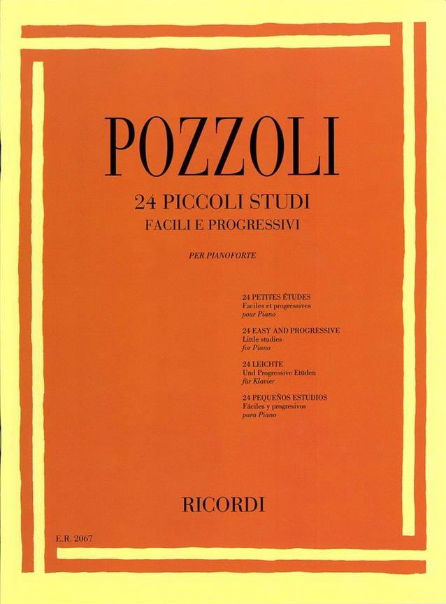 24 Piccoli Studi - Ettore Pozzoli - Partition - laflutedepan.com