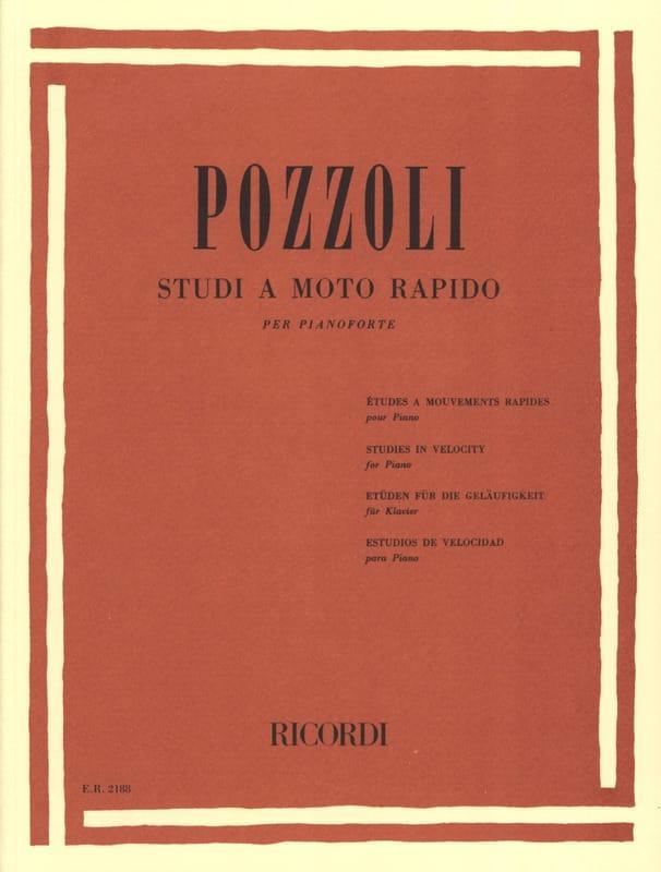 Studi A Moto Rapido - Ettore Pozzoli - Partition - laflutedepan.com