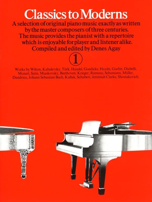 - Classics To Moderns Volume 1 - Partition - di-arezzo.co.uk