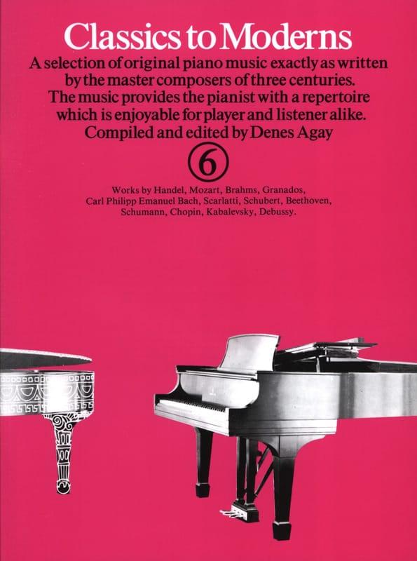 Classics To Moderns Volume 6 - Partition - laflutedepan.com