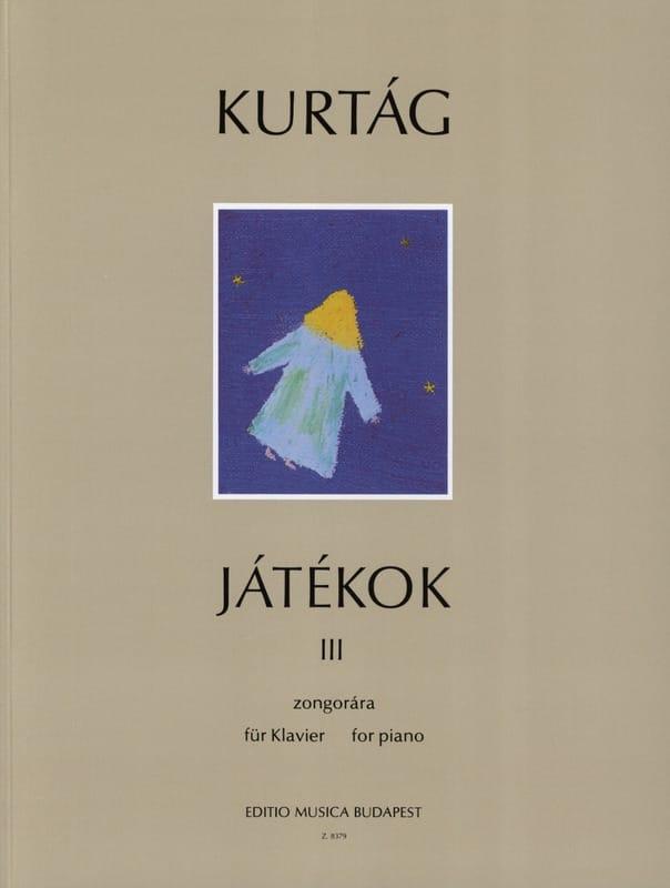 György Kurtag - Jatékok Volume 3 - Partition - di-arezzo.co.uk