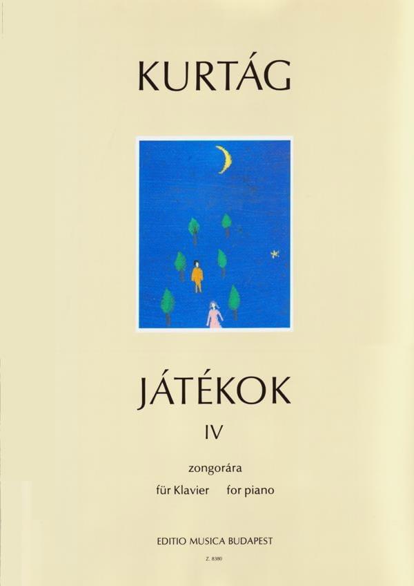 György Kurtag - Jatékok Volume 4. 4 Hands - Partition - di-arezzo.co.uk