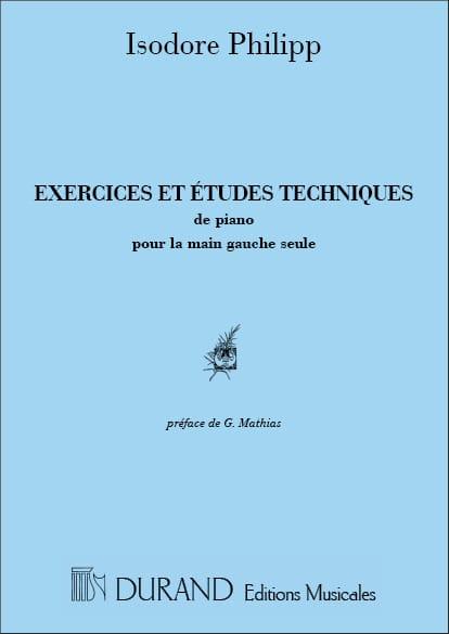 Exercices et Etudes Main Gauche - Isodore Philipp - laflutedepan.com