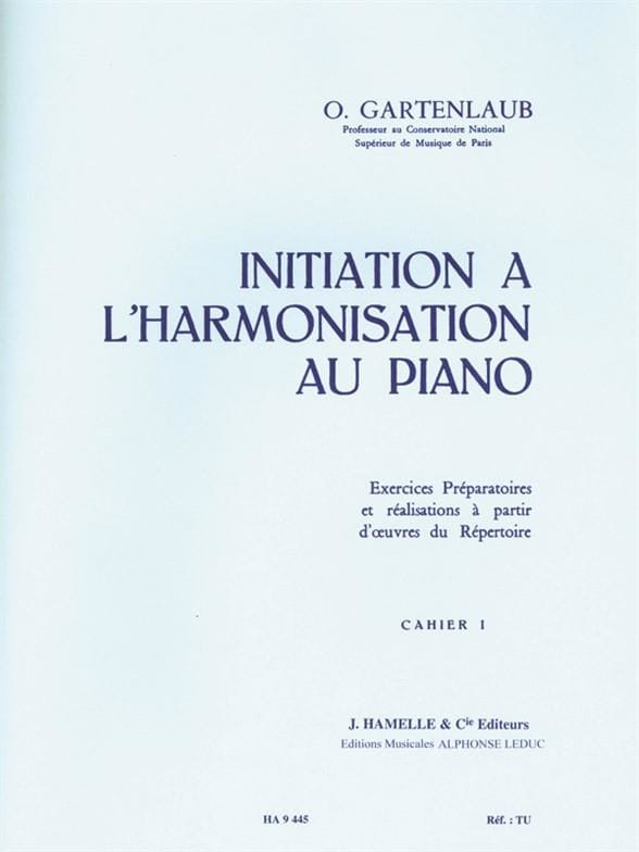 Odette Gartenlaub - Introduction to Piano Harmonization - Volume 1 - Partition - di-arezzo.com