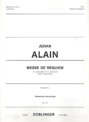Jehan Alain - Mass of Requiem. Chorus alone - Partition - di-arezzo.com