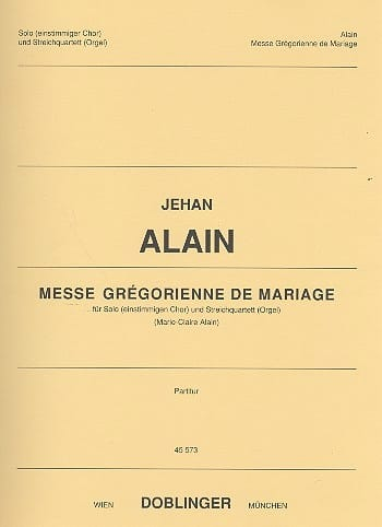 Jehan Alain - Gregorian Mass of Marriage. Driver - Partition - di-arezzo.com