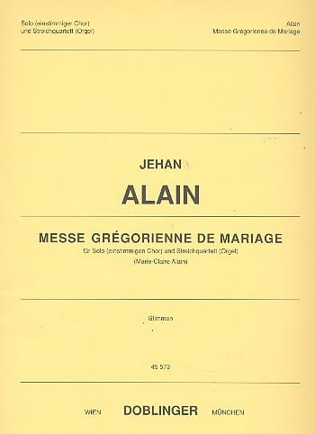 Jehan Alain - Gregorian Mass of Marriage. Equipment - Partition - di-arezzo.com