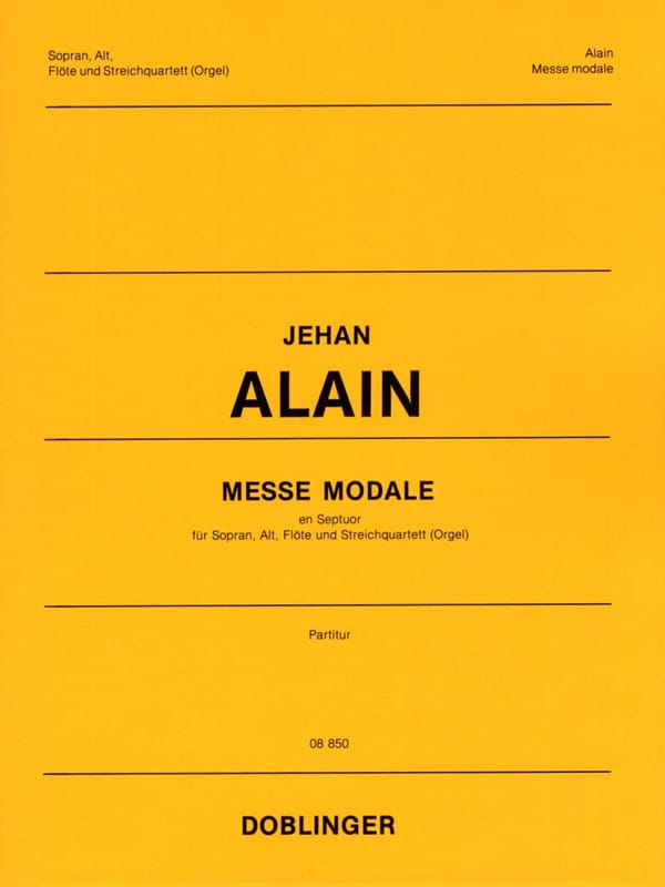 Messe Modale En Septuor. Conducteur - Jehan Alain - laflutedepan.com