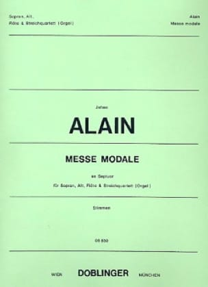 Jehan Alain - Modal Mass In Septuor. Parts - Partition - di-arezzo.co.uk