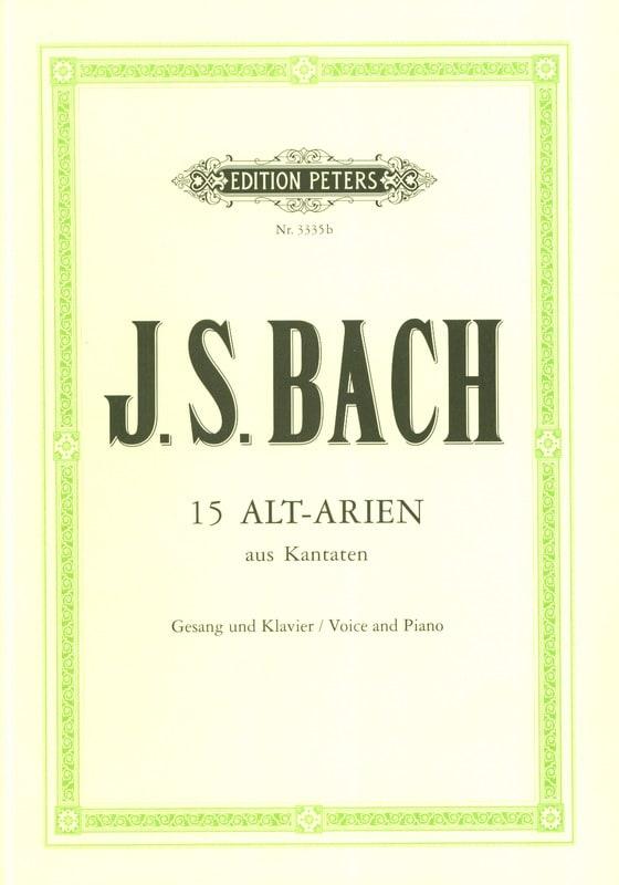 BACH - 15 Cantatas for Alto - Partition - di-arezzo.com