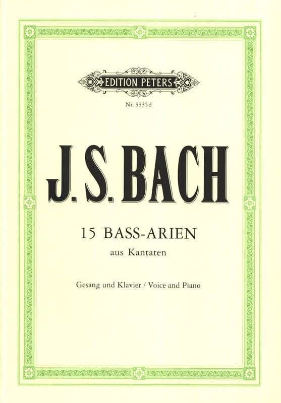 15 Airs de Cantates pour Basse - BACH - Partition - laflutedepan.com