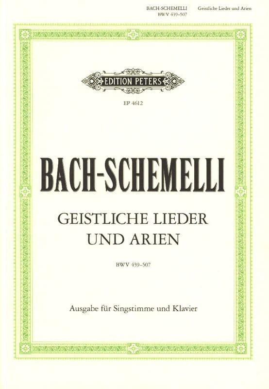 BACH - Schemelli Geistliche Lieder Und Arien - Partition - di-arezzo.co.uk